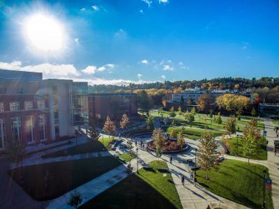 University of Wisconsin Eau Claire Arboretum - Drone shot