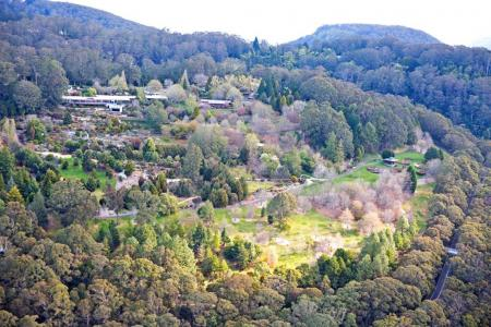 Blue Mountains Botanic Garden Mount Tomah from helicopter