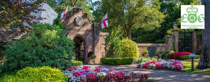 Elizabethan Gardens entrance
