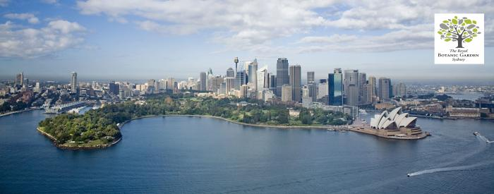 Aerial view Royal Botanic Gardens, Sydney