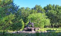 Sclupture in a pond at Brookgreen Gardens